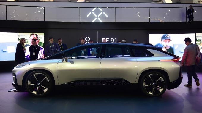 美國電動車廠法拉第未來力拚今年量產(圖:AFP)