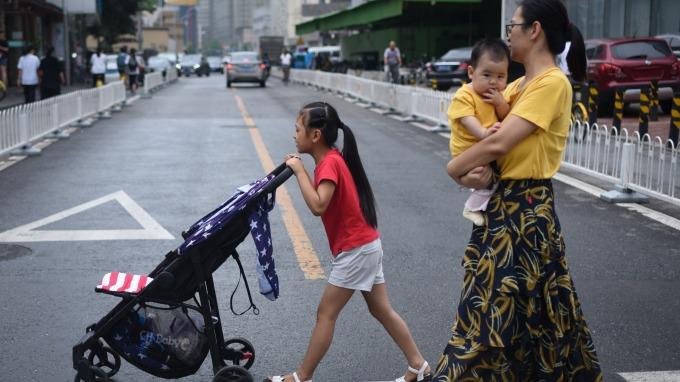 中國生育率持續下降(圖:AFP)