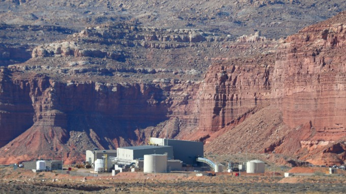 鈾礦礦山。(圖:AFP)
