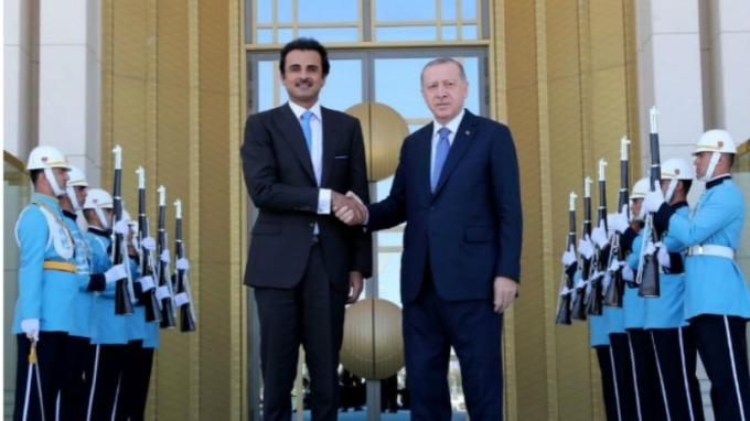 昨日(15日)土耳其總統與卡達國王會唔(翻攝自:skynews)