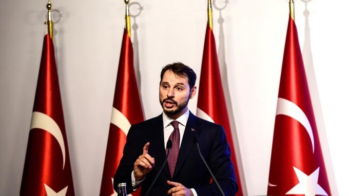 土耳其財長Berat Albayrak(圖:AFP)