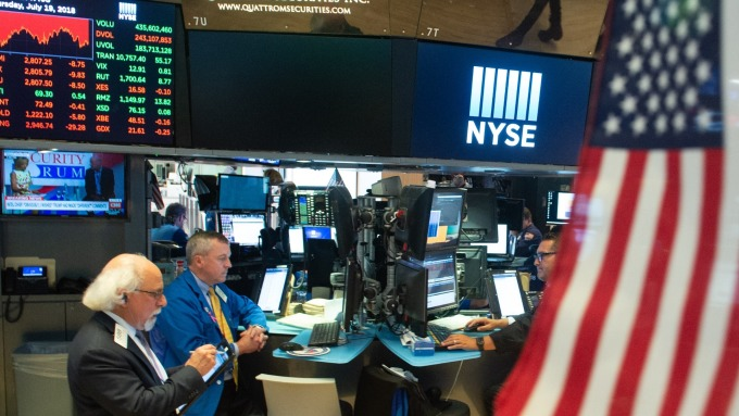圖:AFP  美國股市週一收高
