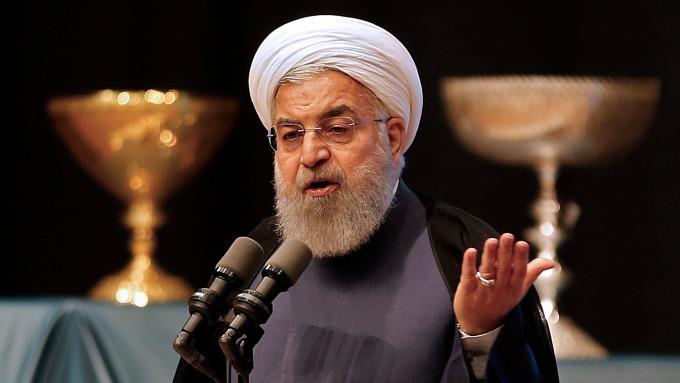 伊朗總統羅哈尼。(圖:AFP)
