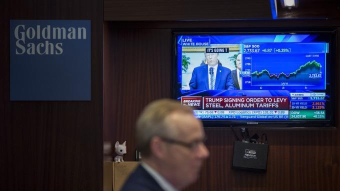 高盛股價創最長連跌記錄。(圖:AFP)