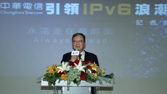 中華電展現IPv6布局成效。圖為董事長鄭優。(圖:中華電提供)