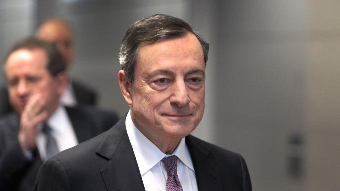 歐洲央行總裁德拉吉。(圖:AFP)