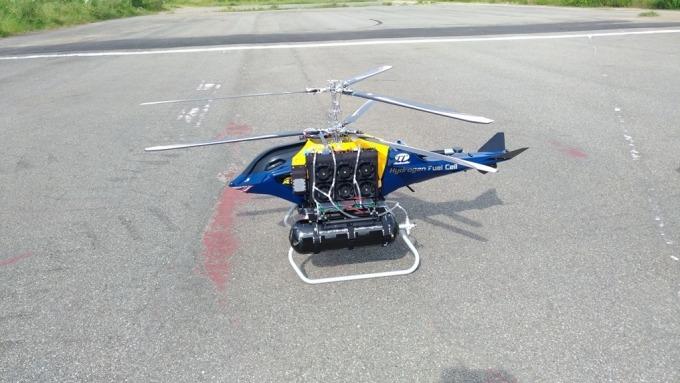雷虎發表全球首款氫燃料電池無人直升機。(圖:雷虎提供)