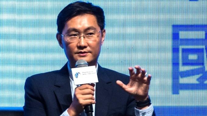 馬化騰今年身家縮水港幣800億元,BATJ中最慘。 (圖:AFP)