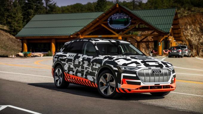 Audi首部量產電動車Audi e-tron。(圖:Audi提供)