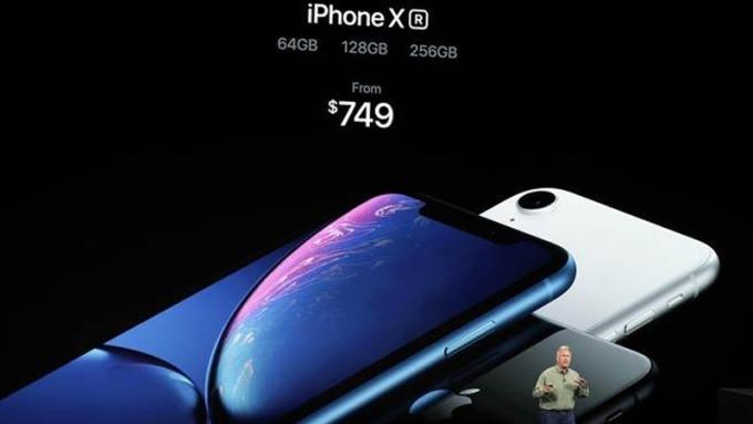 蘋果新機發表會。(圖:AFP)