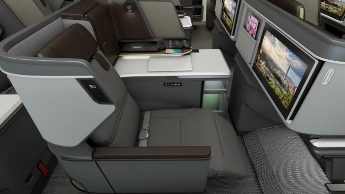 長榮航首架787引進BMW集團的設計團隊打造皇璽桂冠艙。(圖:長榮航提供)