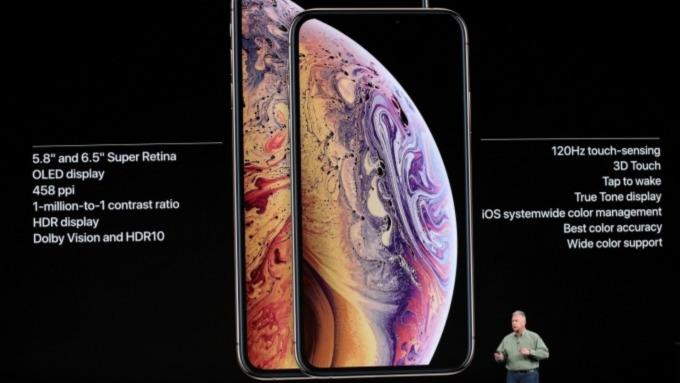 蘋果 iPhone XS 新機。(圖:AFP)
