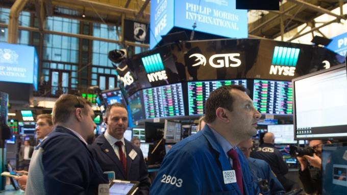 圖:AFP  美國股市週一下跌