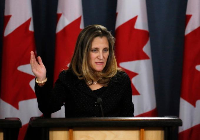 加拿大外交部長 Chrystia Freeland 。(圖:AFP)