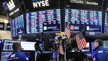 圖:AFP  美國股市週三溫和上漲 縮小漲幅