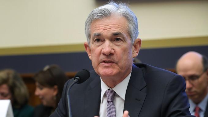 圖:AFP  Fed主席鮑爾