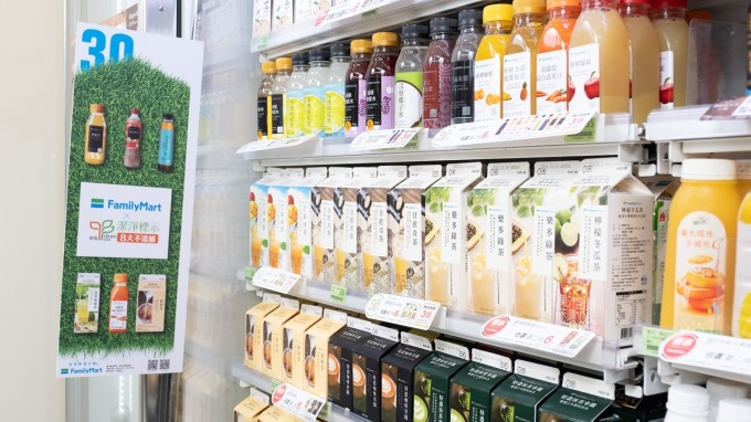 全家推動Clean Label標章少添加食品銷售。(圖:全家提供)