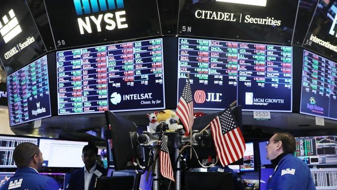 圖:AFP  美國股市週三表現慘淡