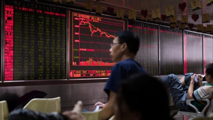 A股千股跌停再上演。(圖:AFP)