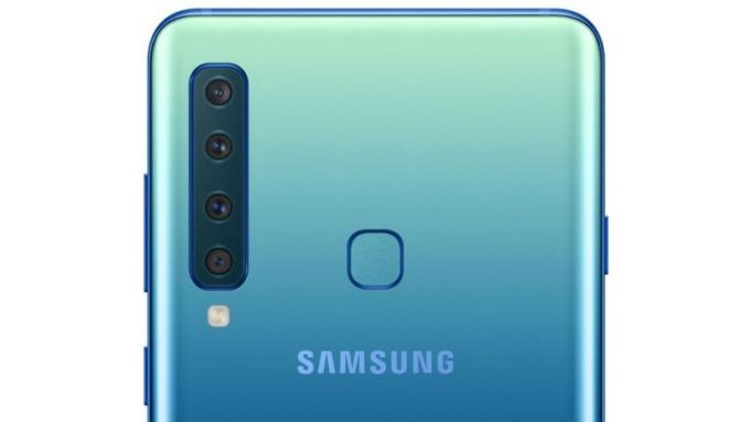 全球首款四鏡頭手機Galaxy A9。(圖:三星官網)