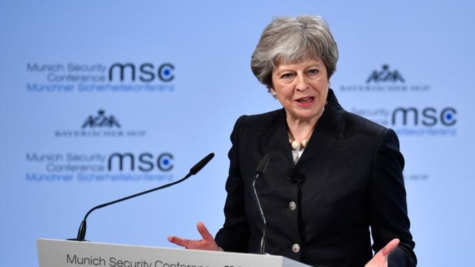 梅伊暗示「歷史性脫歐協議」接近達成。(圖:AFP)