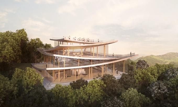 時代雜誌百大最具影響力的人-丹麥建築師BIG-Bjarke Ingels設計之「太極會館」。(台開提供)