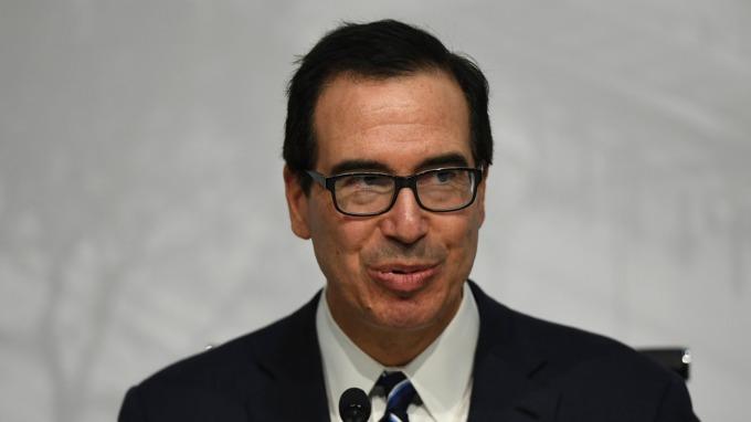圖:AFP  美國財政部長梅努欽
