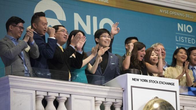蔚來汽車於 9 月 11 日於紐約證券交易所掛牌上市 (圖:AFP)