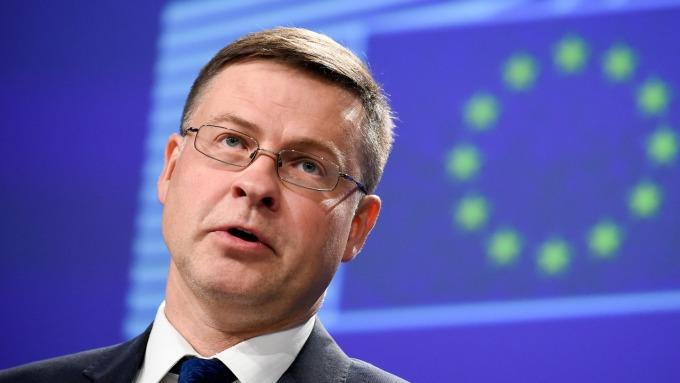 圖:AFP  歐盟委員會副總裁Valdis Dombrovskis