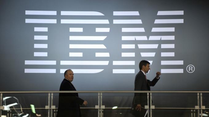 IBM營收意外下滑。(圖:AFP)