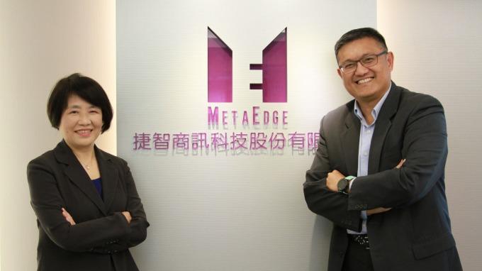捷智商訊董事長林群國(右)、總經理楊秀怜(左)。(圖:捷智商訊提供)