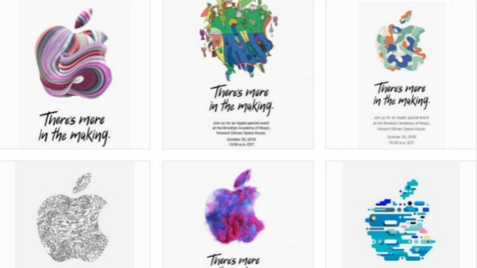 各式各樣的蘋果邀請函已寄給全美各大媒體。(翻攝自:AppleInsider)