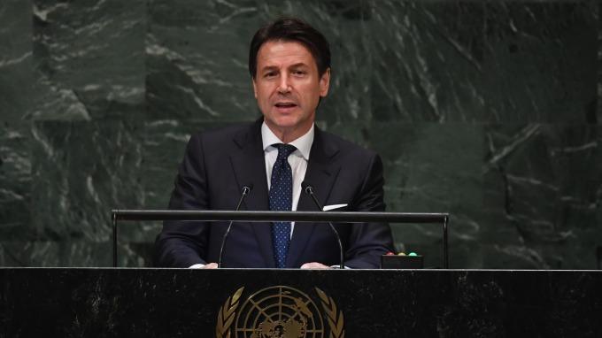義大利總理孔蒂表示:政府預算案沒有「B計畫」。(圖:AFP)