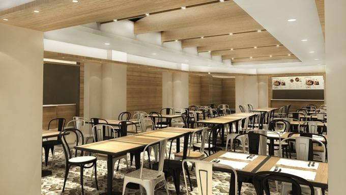 微風在中央研究院的餐飲廣場即將開幕。(圖:微風提供)
