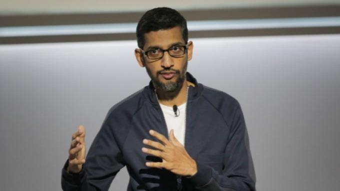 Google 執行長 Sundar Pichai 。(圖:AFP)