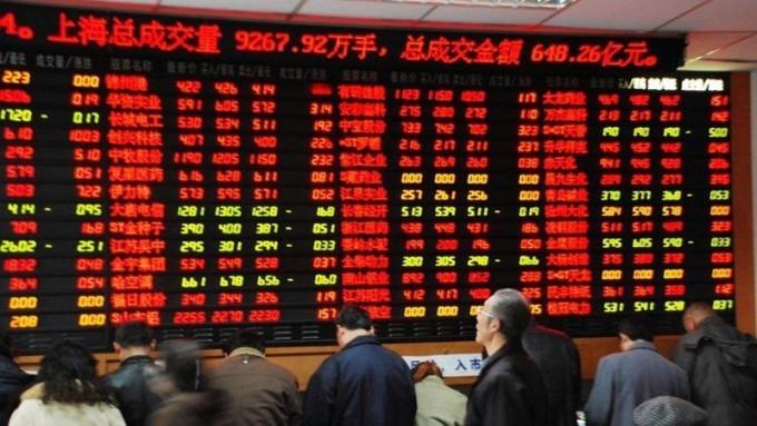 中國股市示意圖。(圖:AFP)
