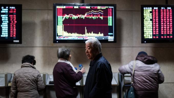週四MSCI亞太(不含日本)指數,一度觸及1個月高點。(圖:AFP)