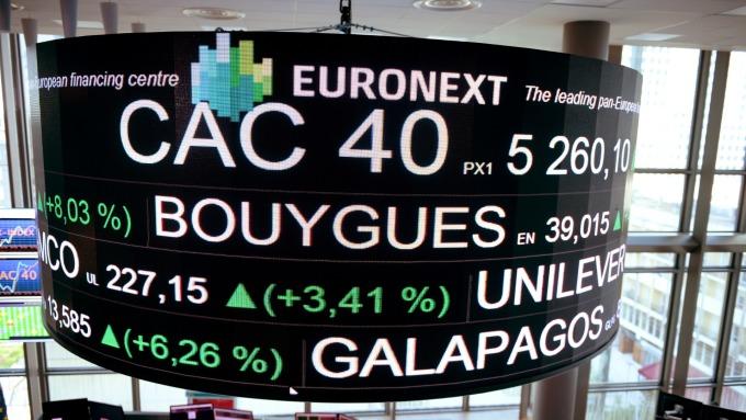 週四歐股一度觸及近一個月高點。(圖:AFP)