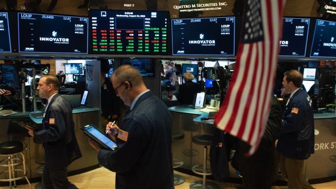 圖:AFP  美國指數期貨盤前回檔整理