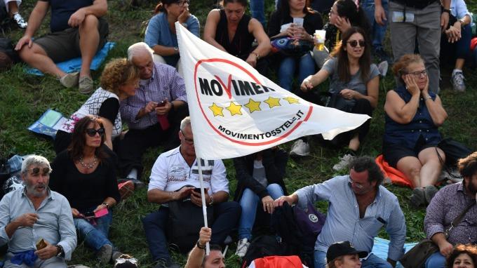 圖:AFP  義大利五星運動黨舉辦活動