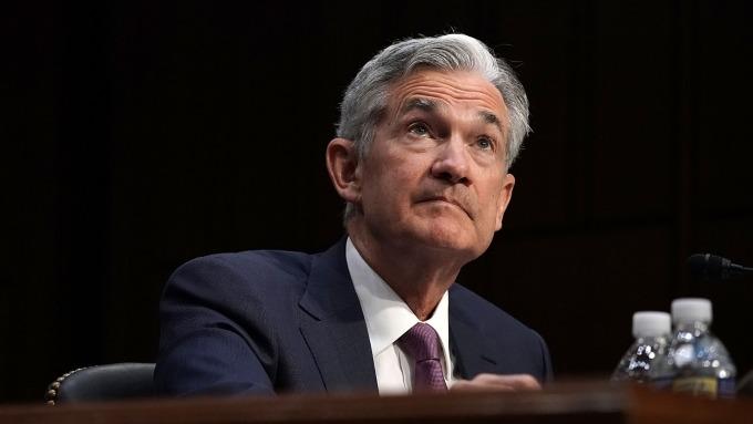 圖:AFP  聯準會(Fed)主席鮑爾