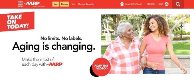 美國退休者協會網站(圖擷取自官網)