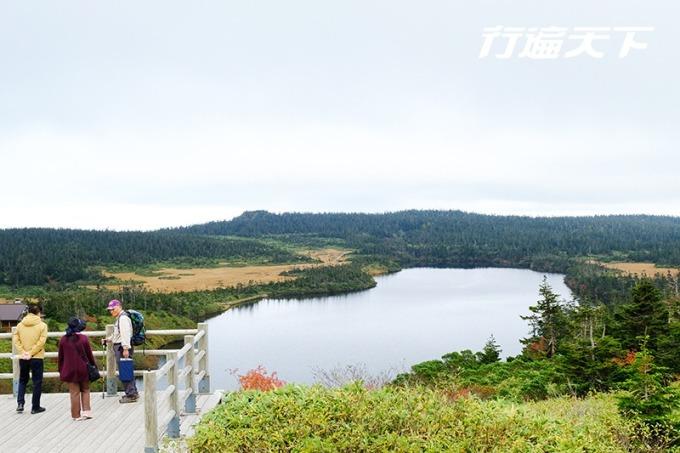 於制高點上眺望八幡大沼。