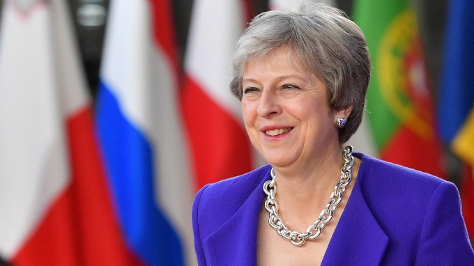 英國首相梅伊 (Theresa May)。(圖:AFP)