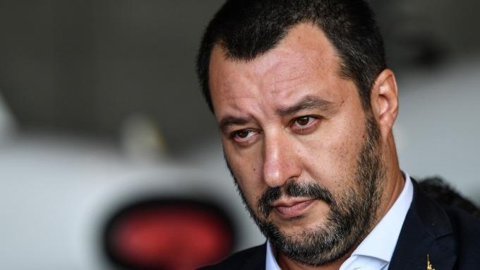 圖:AFP 義大利副總理Matteo Salvini