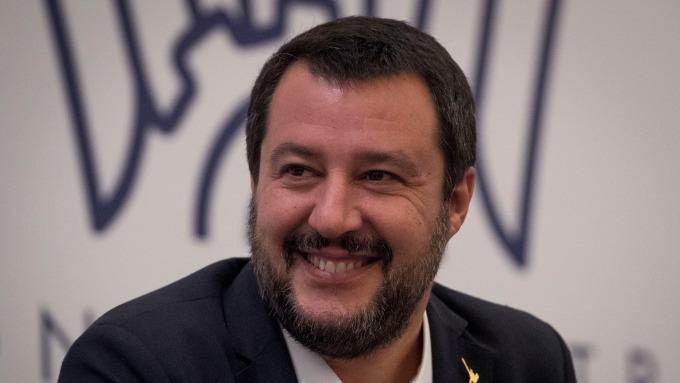 義大利副總理兼內政部長 Matteo Salvini。(圖:AFP)