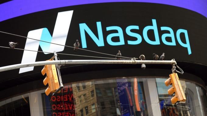 嗶哩嗶哩於那斯達克證券交易所掛牌上市。(圖:AFP)