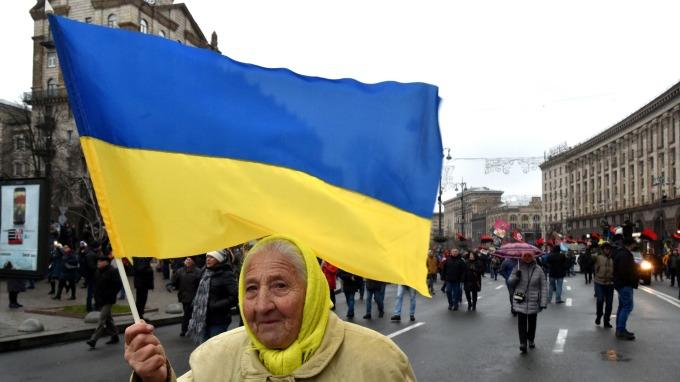 烏克蘭十年期公債跌至新低。(圖:AFP)