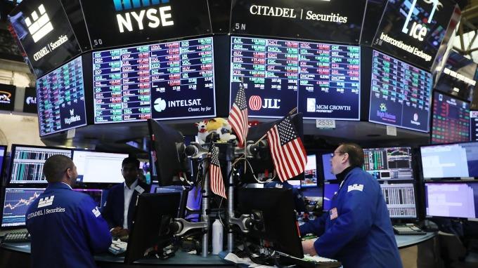 貿易戰拖累美股。(圖:AFP)