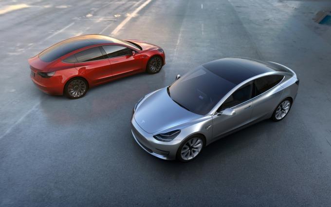 特斯拉平價車款 Model 3。(圖:AFP)